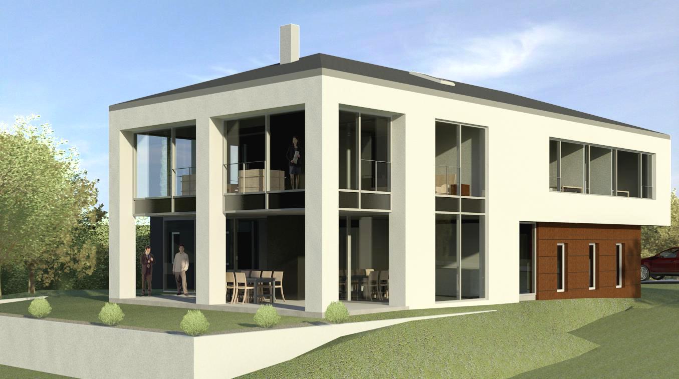 Wohnhaus in Bitburg-Stahl 3D Ansicht