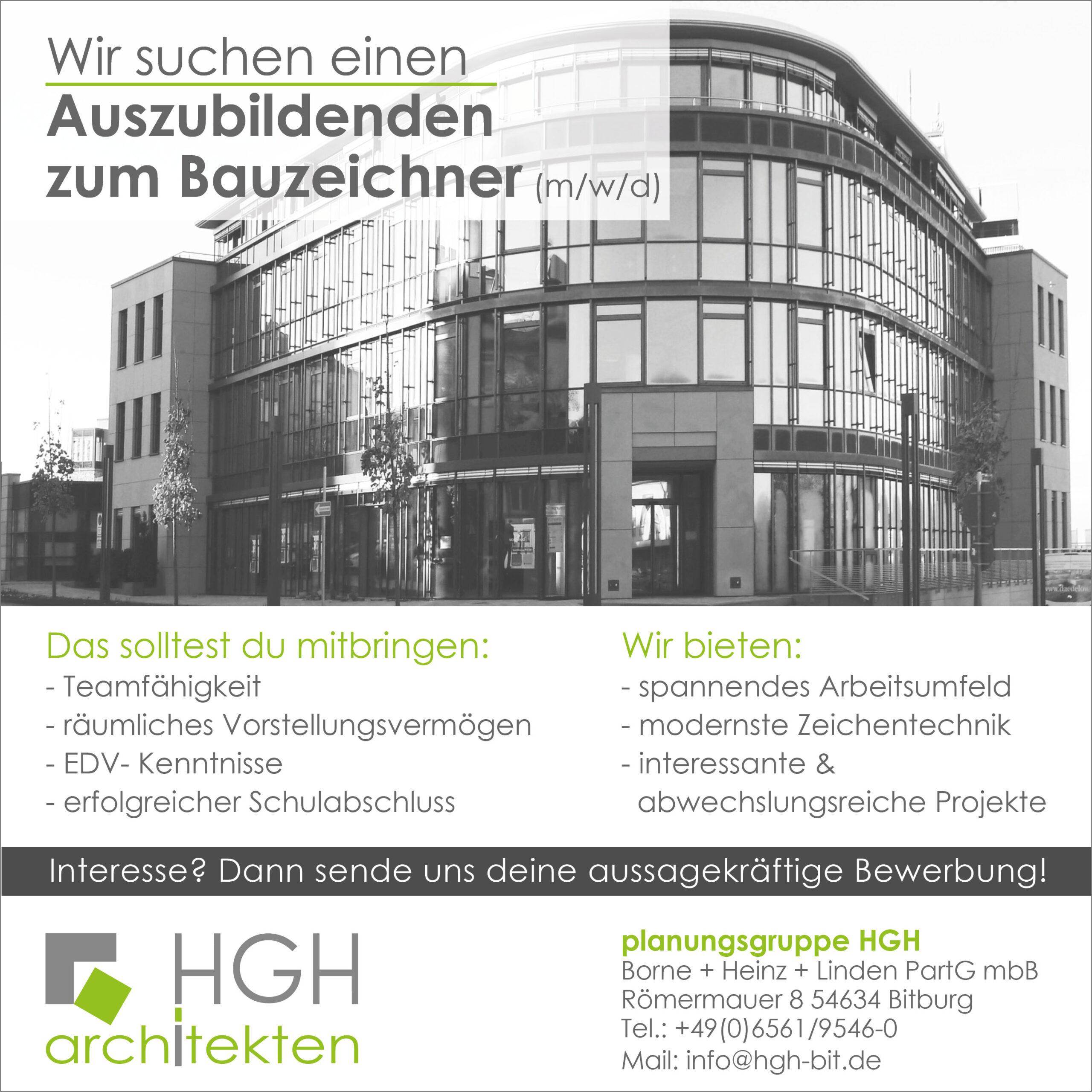 Die Mitarbeiter der HGH architekten in Bitburg