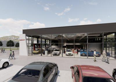 Neubau eines Autohauses in Wittlich
